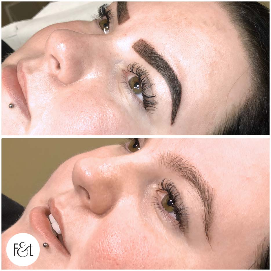 beth before and after brows