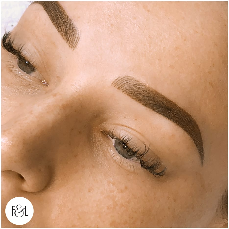 combo brow - feather touch cosmetic tattooing